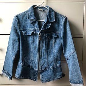 fb58335950d Jackets   Blazers - ~ Fitted peplum denim jacket ~